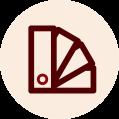 Icone de palheta de cor